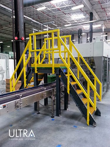 Fiberglass conveyor walkover