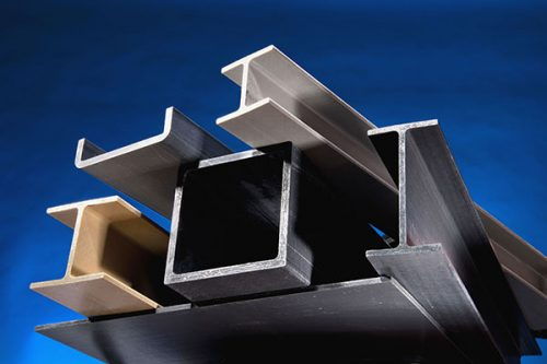 Structural fiberglass pultruded beams, c-channels, box tubes and flat sheet