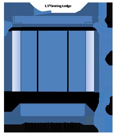 sketch of fiberglass component sump