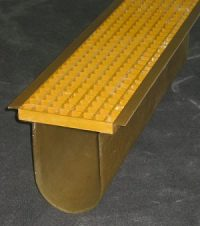 Custom Fiberglass Radius Bottom Trench for aggressive chemical environments